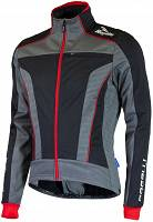 Rogelli TRANI 3.0 - softshellowa kurtka rowerowa - black/red - 003.119