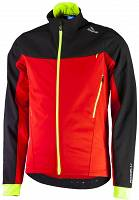 Rogelli TRABIA - softshellowa kurtka rowerowa - red/black/fl.-yellow 003.116