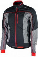 Rogelli TRANI 2.0 - softshellowa kurtka rowerowa - black/red - 003.114