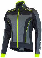 Rogelli TRANI 3.0 - softshellowa kurtka rowerowa - black/fluor-yellow - 003.118